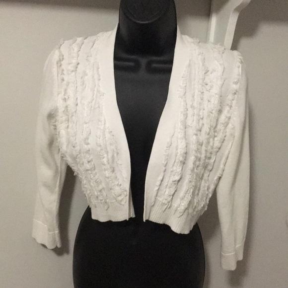 Karl Lagerfeld Sweaters - Karl Lagerfeld White Shrug
